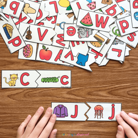 Free Printable Uppercase and Lowercase Puzzle Match