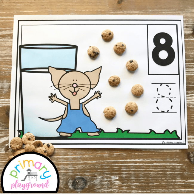 Milk and Cookies counting mats