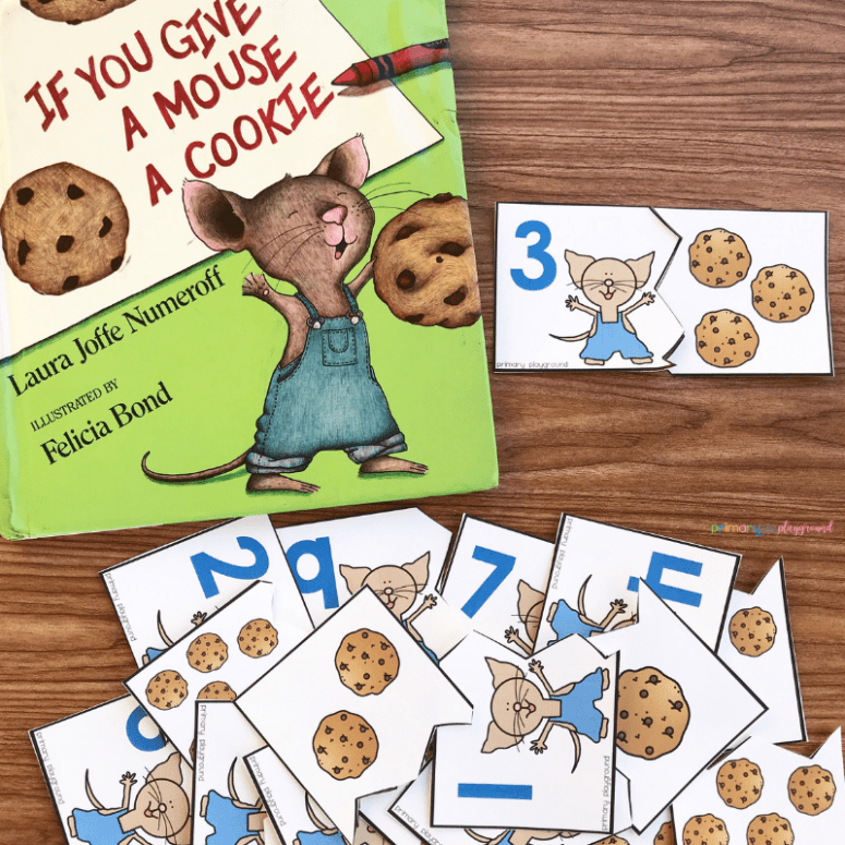 free printable cookie counting puzzles