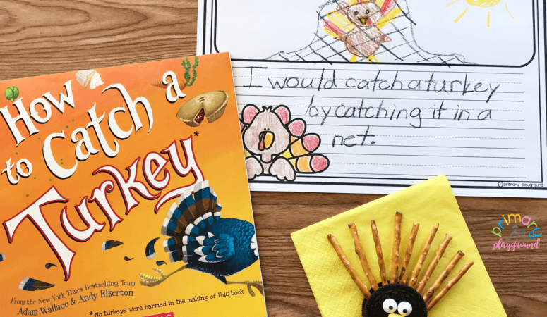 Literacy Snack Idea Catch A Turkey + Free Printable