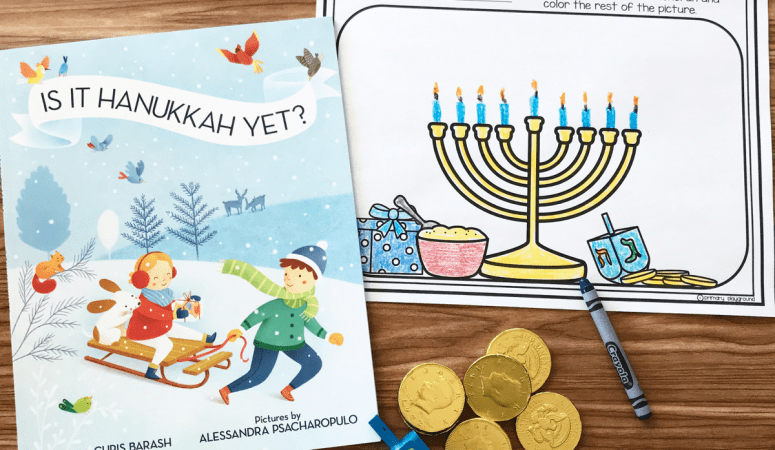 Literacy Snack Idea Hanukkah + Free Printable