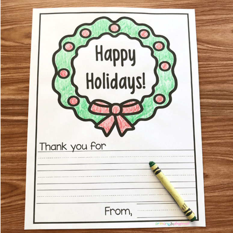 Holiday letter for our military and first responders