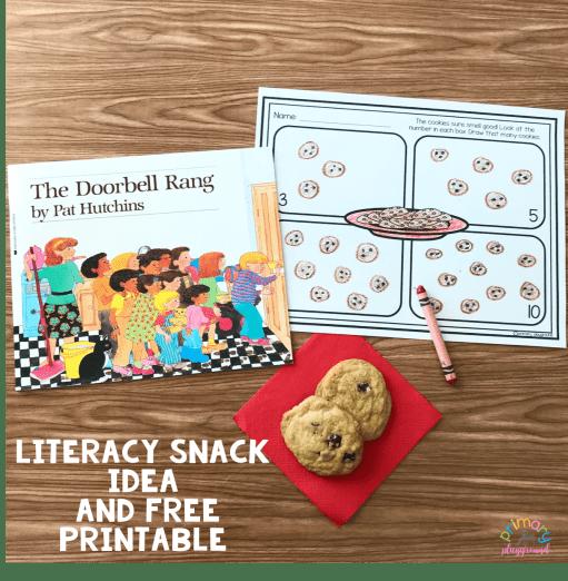 Literacy Snack Idea Cookies