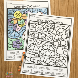 Free Printable Color By Code CVC Words