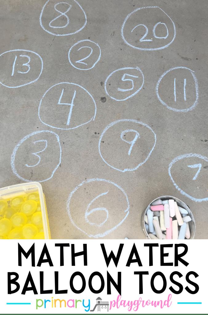 Math Water Balloon Toss