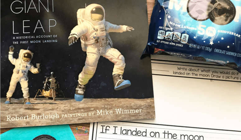 Literacy Snack Idea Moon Landing + Free Printable