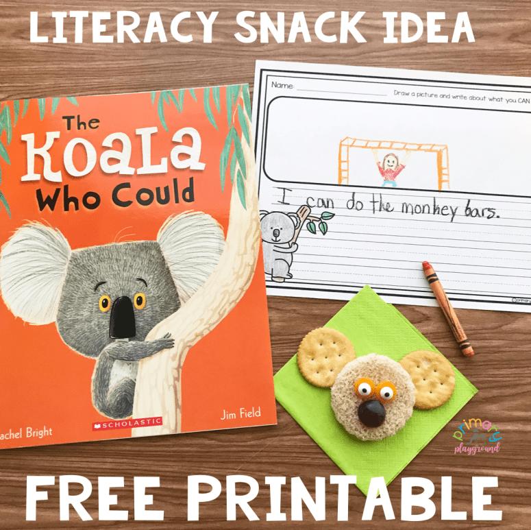 Literacy Snack Idea Koala +Free Printable