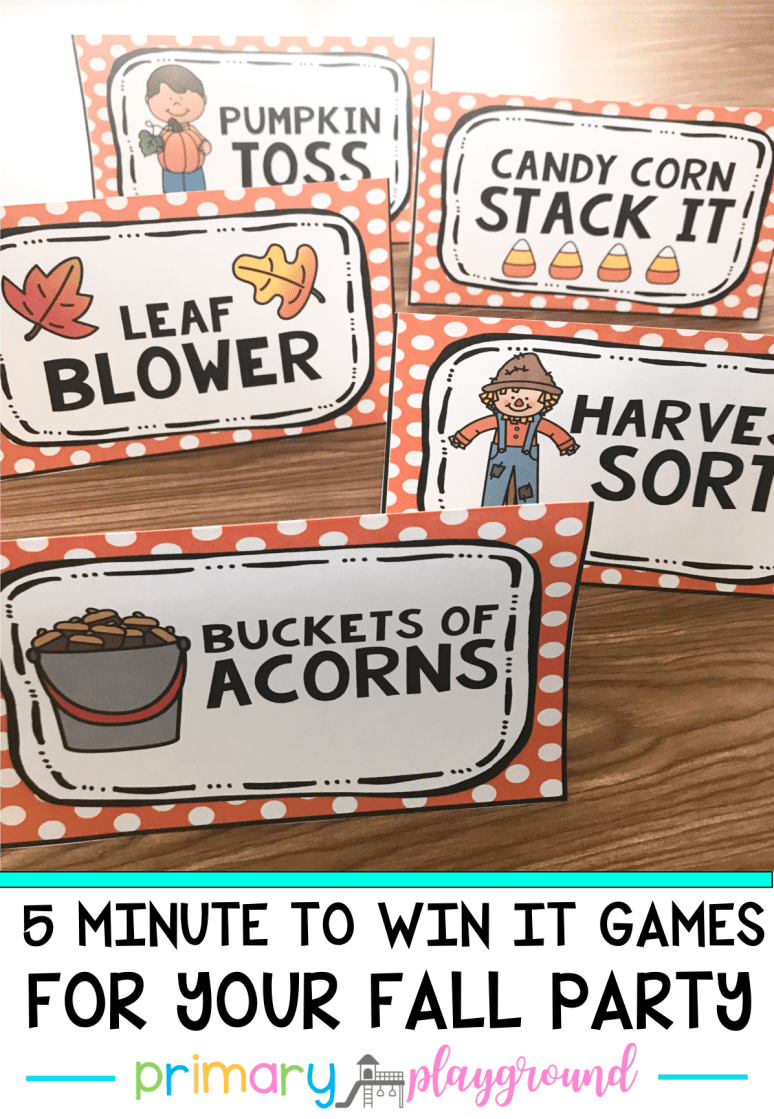 5 Fall Minute To Win It Games for your fall party