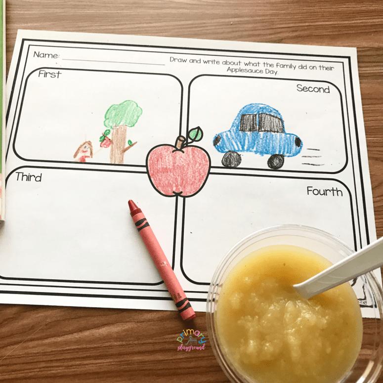 Literacy-Snack-Idea-Applesauce