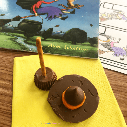 witches broom and witches hat snack