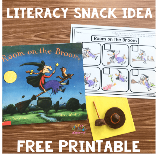 Literacy Snack Idea Witches Broom