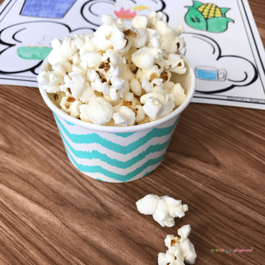 Literacy Snack Idea Popcorn