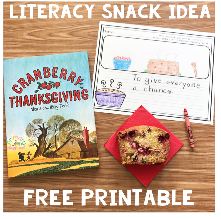 Literacy Snack Idea Cranberry Thanksgiving