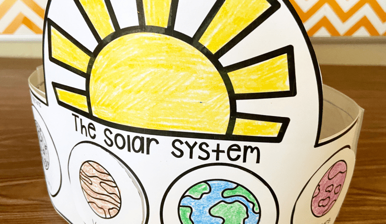 Free Printable Solar System Hat