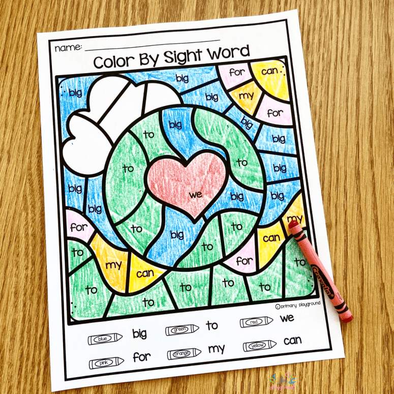 Free Printable Earth Day Color By Code