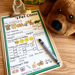 Dramatic Play Pet Vet Clinic Patient Form