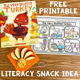 Literacy Snack Idea Stuffed Turkey