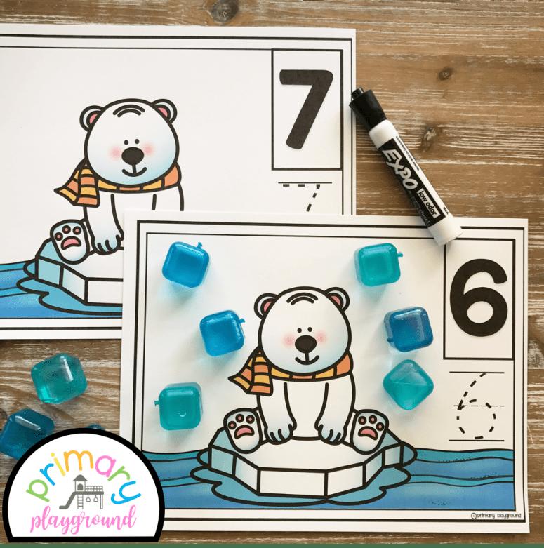 Polar Bear Counting Mats