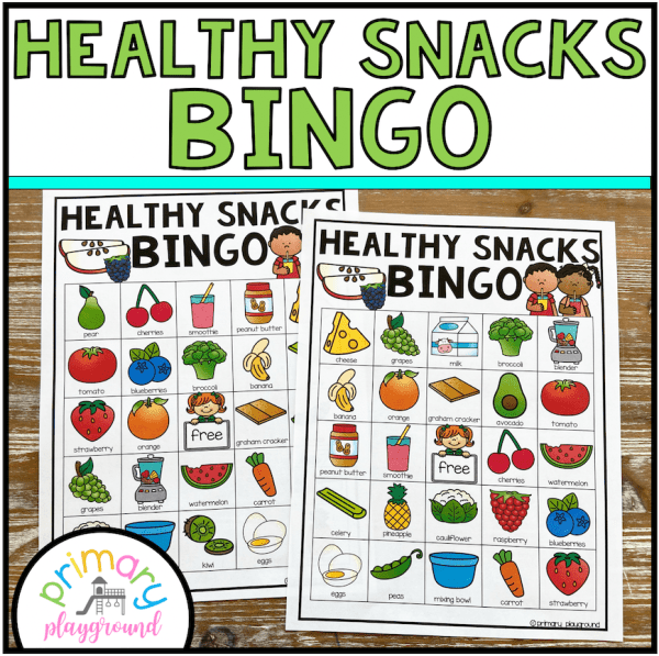 healthy snacks bingo