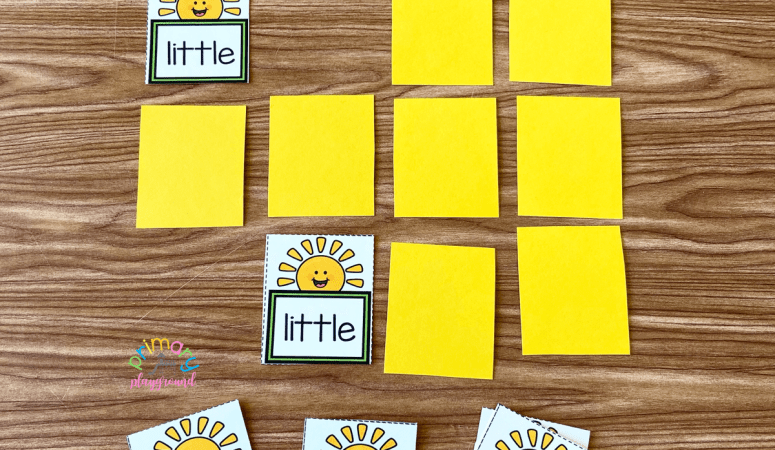 Sunshine Sight Word Memory Game
