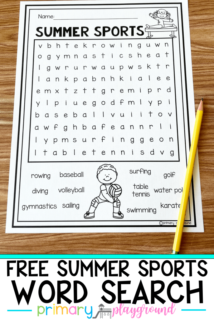Are you ready for the Summer Olympics? Get ready with this Summer Sports Free Word Search. We have a bunch of fun ideas to help celebrate too!