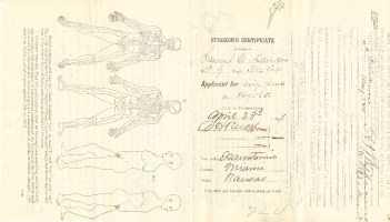 Samuel Davidson Surgeon Certificate.