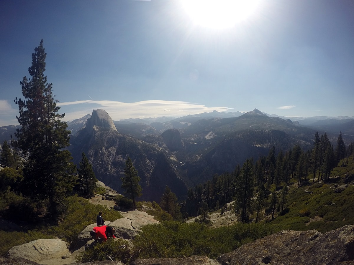 View of form Glacier Point in Yosemite National Park California