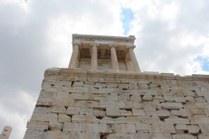 Temple of Athena Nike as seen from below