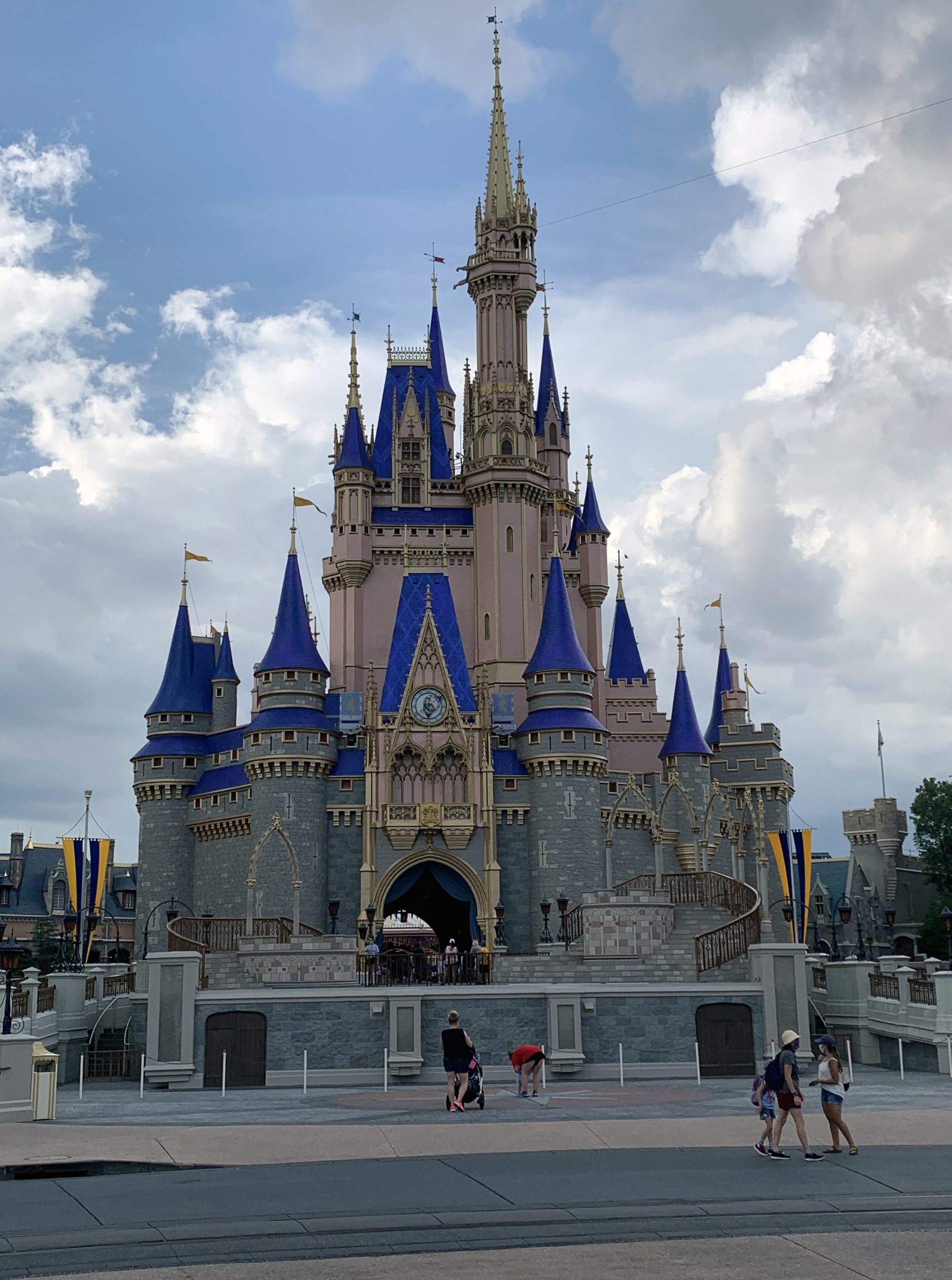 Cinderella's Castle at Walt Disney World Orlando with updated paint scheme