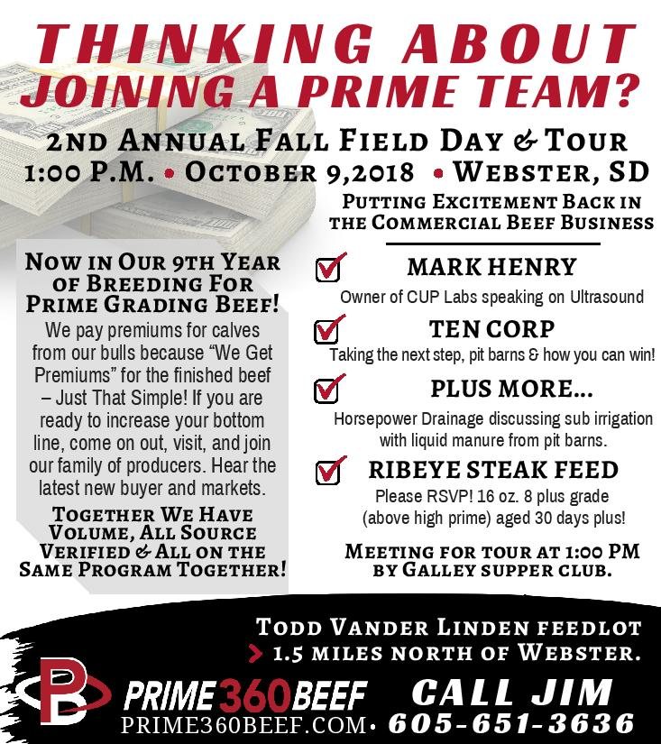 2nd Annual Fall Field Day and Tour at Prime360 Beef