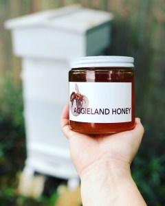 aggieland honey glass jar