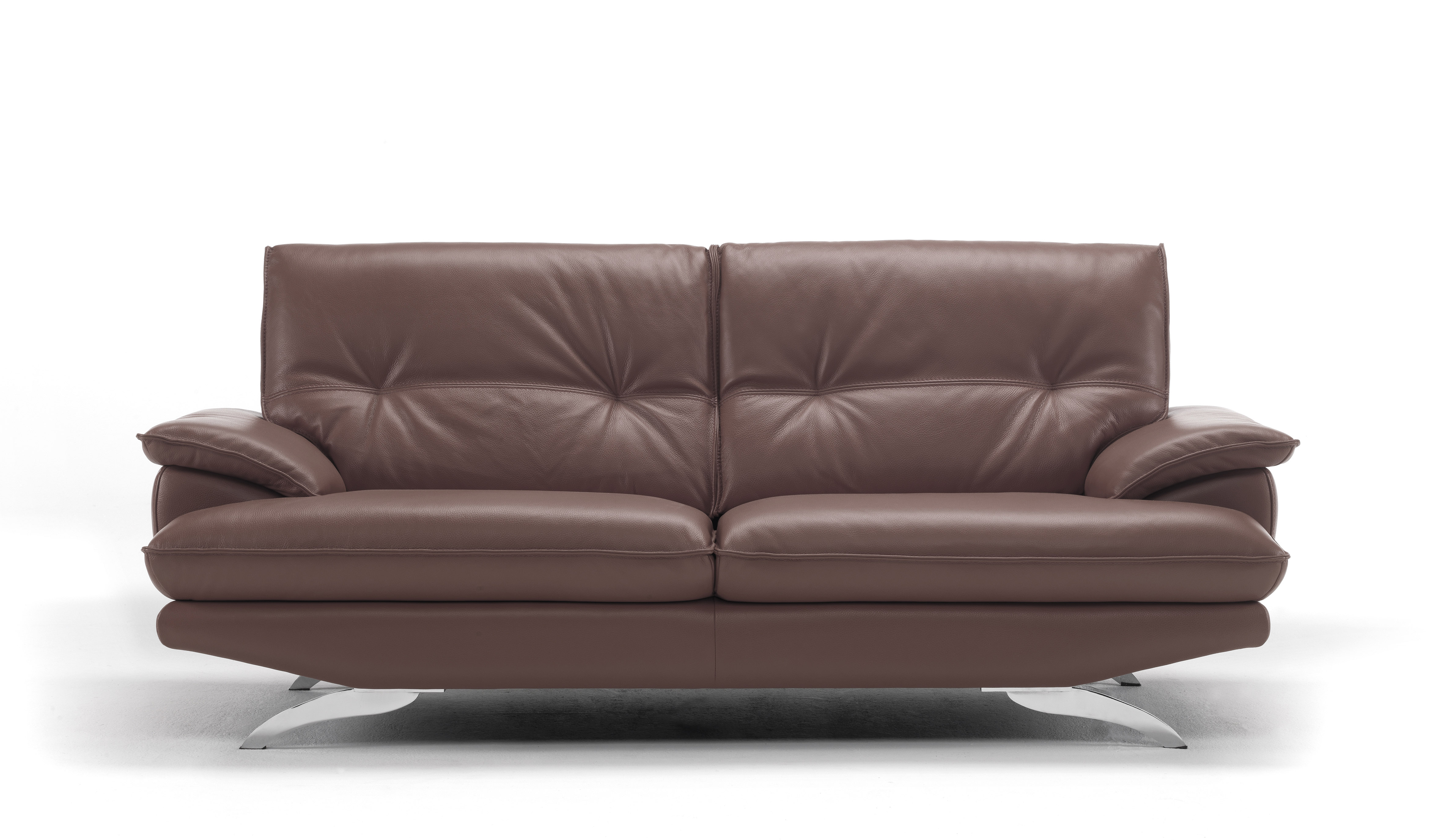 Italian Leather Living Room Set Tufted Back Cushions