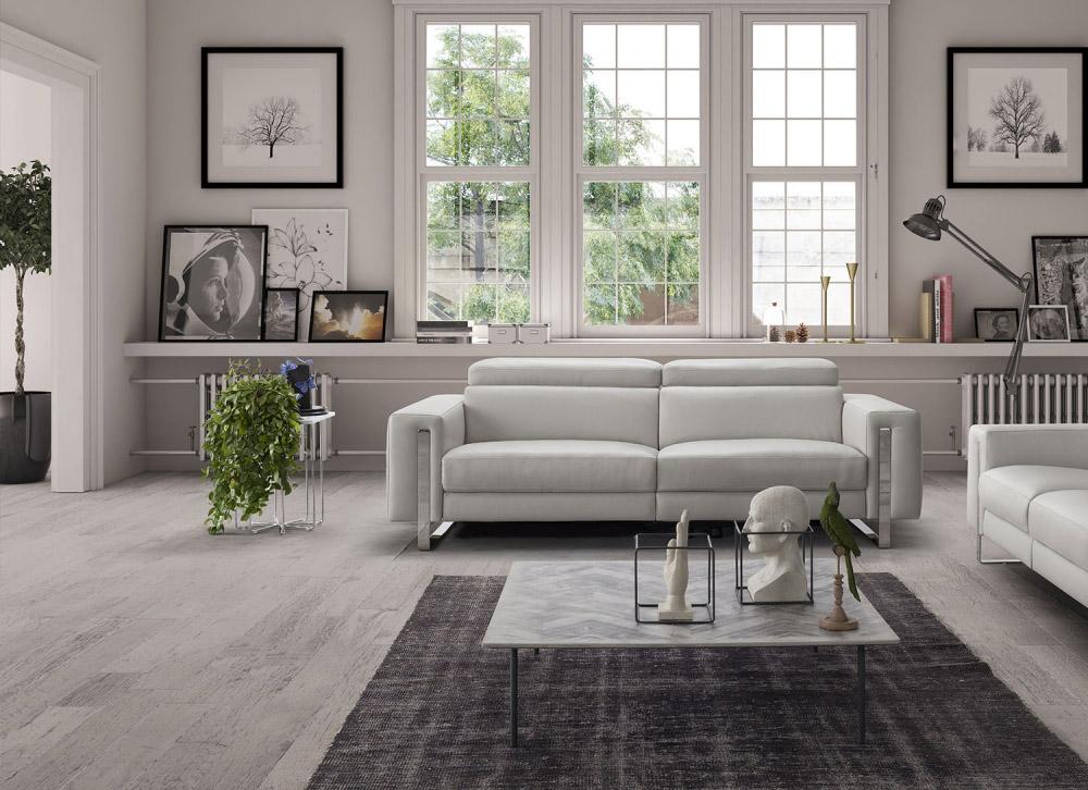 Genuine Leather Living Room Sofas