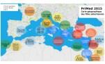 carte géographique des films PriMed2015