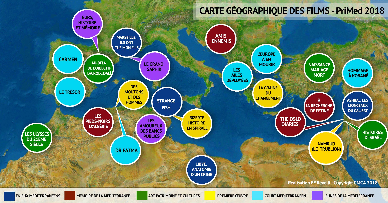 Carte Geographique De Lalgerie.Carte Geographique Des Films Selectionnes Primed