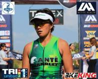 Mirasol Abad at Tri-U 1 finish