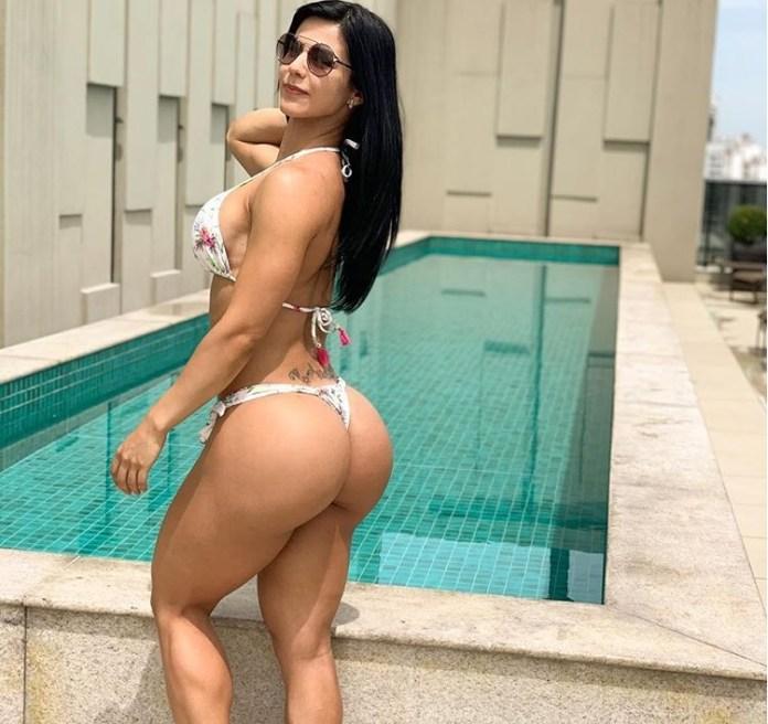 A musa Eva Andressa deixou seus seguidores babando