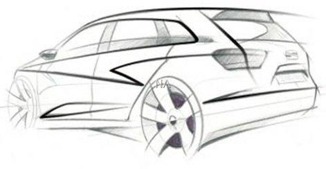 Seat mostra esboço do Ibiza ST Concept