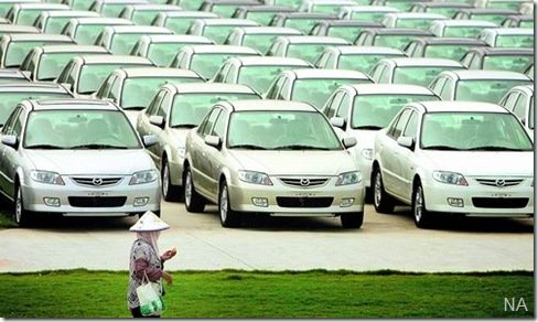 Venda de carros na china aumenta 25%