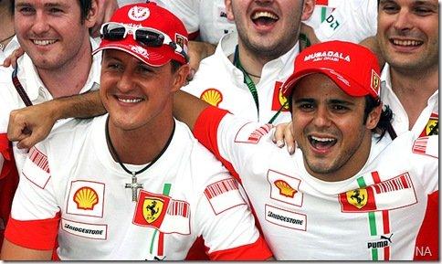 Michael Schumacher substituirá Felipe Massa na Ferrari