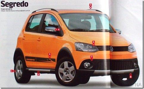 Assim será o novo Volkswagen CrossFox