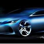 Primeira imagem do hatch Lexus