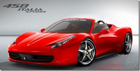 Ferrari confirma produção da Ferrari 458 Italia Spyder para 2010