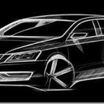 Volkswagen revela esboço de novo sedan