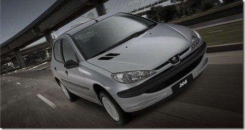 Peugeot 206 não é mais produzido no Brasil