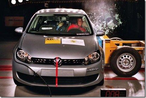 Golf VI é eleito o carro mais seguro de 2009 pelo Euro NCAP
