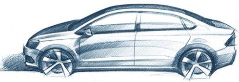 VW russa divulga esboço de futuro sedan compacto, talvez o novo Polo Sedan