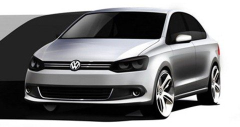 Volkswagen libera esboços do novo Polo Sedan
