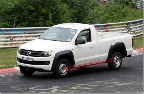 Volkswagen Amarok com cabine simples é flagrada na Europa