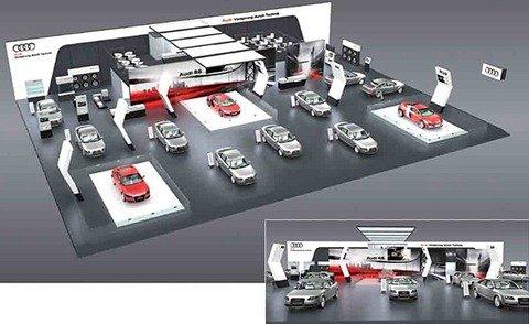 Audi divulga projeto de estande para o Salão do Automóvel de São Paulo e confirma 10 modelos em exposição no evento